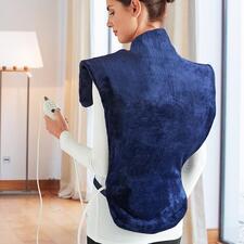 Heiz- und Massagekissen Deluxe - Wärmt von der Hüfte bis hoch in den Nacken und schmiegt sich perfekt um die Schultern.