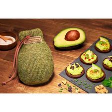 AvocadoSock® - Natürliche Shetlandwolle lässt die Früchte in nur 24 - 48 Stunden verzehrfertig reifen. Gleichmäßig und ohne Druckstellen.