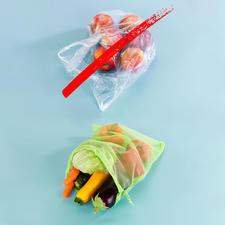 Mehrweg-Frischenetz – statt Einweg-Plastiktüte.