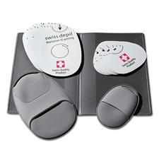 Im praktischen Etui sind je 10 Schleifpads und 2 Handschuhe sauber verstaut.