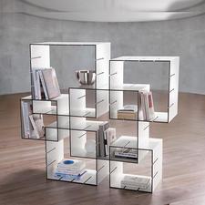 Konnex Steckregal-Set, 3-teilig - Kein Dübeln, kein Schrauben. Einfach zusammenstecken, Schaffen Sie im Nu Ihr individuelles Regal.