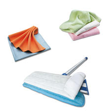Mikro-Aktivfaser-Putztücher - Nehmen Schmutz deutlich besser auf als andere Reinigungstücher - ohne Chemie. Auch als Boden-Reiniger erhältlich.