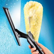 Ettore® Fensterreiniger - Der Abzieher der Profi-Fensterputzer. So schnell und mühelos haben Sie noch nie Fenster geputzt.