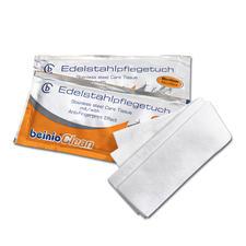 Edelstahl-Reinigungstücher, 25 Stück - Hygienische Sauberkeit + streifenfreier Glanz + lang anhaltender Schutz vor Fingerabdrücken.
