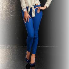 Versace Skinny-Hose - Die modisch perfekte Hose: Schmale Form. Verkürzte Länge. Strahlendes Blau.