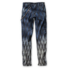 Cycle Print-Jeans - Die Skinny-Jeans ist einzigartig durch Print plus Farbverlauf.