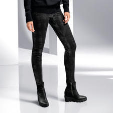 Robin's Jean Glencheck-Hose - Der Fashion-Star unter den Winter-Hosen: bedruckt mit aktuellem Glanz-Glencheck. Von Robin's Jean, Los Angeles.