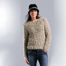 Liu Jo Teddy-Pulli - Im Fashion-Fokus: Funny Furs und Fell-Optiken. Trendy und tragbar bei Liu Jo.
