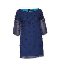 """Twin-Set Blüten-Kleid """"Blue flowers"""" - Trendgerecht – und typisch Twin-Set: Leichter, fließender Stoff. Transparenz. Raffinierte Textur."""