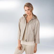 Strenesse Seiden-Hose, Layer-Top oder Lammnappa-Hoody - Clean-Chic- und Sportswear-Trend, perfekt kombiniert von Strenesse.