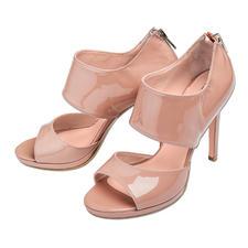 Anna F. Ankle-Sandals - Ankle-Form, Lackleder, 11 cm-Absatz: High-Fashion made in Italy – und doch kein Vermögen.