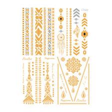 Ihr Schmuck-Tattoo-Set enthält 68 originelle Ornamente, die sich für die verschiedensten Hautstellen eignen.