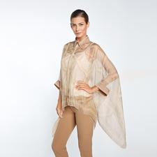 Versace Collection Poncho-Bluse - Selten zu finden: Kombination aus trendigem Poncho und luftiger Business-Bluse.