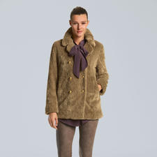 Pinko Teddy-Caban - Im Fashion-Fokus: Fell-Optiken. Trendy und zugleich tragbar bei Pinko.