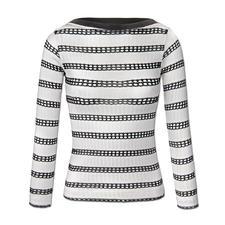 """Pinko Streifen-Pulli - Marine-Streifen. Eleganter Viskose-Strick. Pinko hat den perfekten Pullover zum Trend-Thema """"Sporty-Elegance""""."""