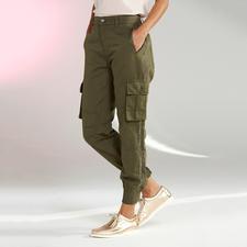 TWINSET Cargohose - Perfekt für aktuelle Stilbruch-Looks: die Cargo-Hose im Military-Style von TWINSET.