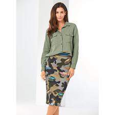 Pinko Khaki-Bluse - Cool & sexy statt derb und sportiv: Pinkos Antwort auf den Military-Trend.