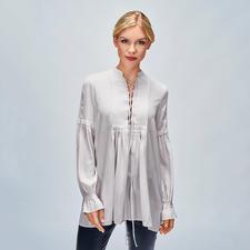 SLY010 Biesen-Tunika - Trend Hippie-Bluse. Die von SLY010 ist aus reiner Seide – selten edel und elegant.