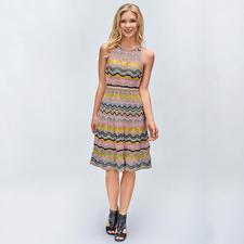 M Missoni Sports-Couture-Kleid - Gestrickte Sports-Couture in aktuellen Pastels. Das Original vom Meister der Maschen: M Missoni.