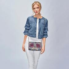Liu Jo Jeans Statement-Sleeves-Jeansjacke - Obendrüber statt untendrunter: Statement-Ärmel machen die Jeansjacke von Liu Jo zum Fashion-Star 2018.