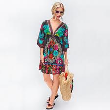 Rubyyaya Flower-Power-Kleid - Summer-Love Hippie-Ethno-Kleid – vom derzeit wohl angesagtesten Label des Looks: Rubyyaya.