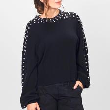 FTC SeaCell®Cashmere-Perlen-Pullover - Die richtigen Fashion-Signale für Herbst/Winter 2018: Perlen-Dekoration. Statement-Ärmel. Verkürzte Kastenform.