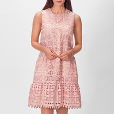 SLY010 Couture-Spitzenkleid - Der Star unter den modischen Spitzenkleidern: Aus Couture-Spitze. In Rosé. Von SLY010.