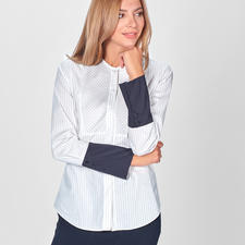Strenesse Nadelstreifen-Bluse - Strenesse vereint 5 Stil-Elemente einer klassischen Hemdbluse – und macht sie so hochmodisch.