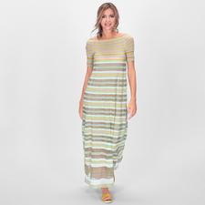 M Missoni Maxi-Kleid - Im Fashion-Fokus: Maxi-Kleider. Transparenz. Smok-Einsätze. Außergewöhnlich elegant umgesetzt von M Missoni in edlem Hauchstrick.