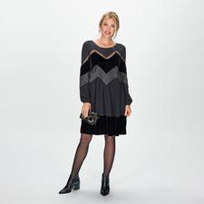TWINSET Materialmix-Kleid - Twinsets Trend-Kleid vereint drei angesagte Materialien: Satin, Samt und Spitze. Und ist unglaublich vielseitig.