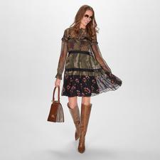 TWINSET Camouflage-Blusenkleid - Camouflage-Trend à la TWINSET: feminin-verspielt statt maskulin-derb.