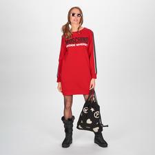 """Moschino Underwear Sweat-Dress - Sports Couture nach typisch witziger Moschino Art: das (Home-)Sweat-Dress aus der """"Under where?""""-Kollektion."""