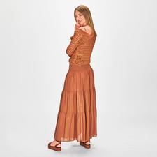 Pinko Lochstrick-Pullover oder Maxi-Rockkleid