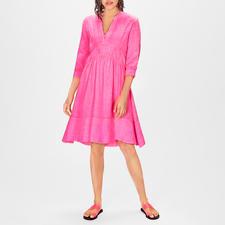 Kultfrau Leinen-Kleid Pink - Heute ein High-Fashion-Piece – morgen ein Lieblingsstück: das pinke Leinenkleid vom deutschen Label Kultfrau.