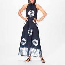 Salty Skin Batik-Maxikleid - Unter den angesagten Batik-Kleidern eines der edelsten: Reduziertes schwarz-weißes Dessin. Auf Bali handgefertigt.