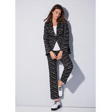 Love Moschino Wording-Blazer oder -Hose - Logo-Mania. Black & White. Love Moschino. Der angesagte Wording-Suit vom Kultlabel.
