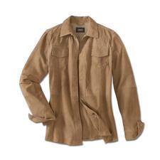 Klima-Komfort-Lederjacke - Die Lederjacke für den Sommer – leicht und luftig wie ein Hemd. Wiegt nur 660 Gramm. Aus hauchzartem Ziegenvelours.