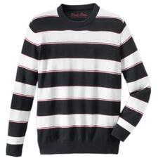 Pima-Pullover Maritime Block Stripes - Leicht, luftig und streichelzart auf bloßer Haut: Der Pulli aus seltener Pima-Cotton.