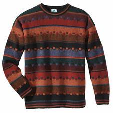 Pullover Irischer Herbst - Edler Jacquard aus robuster, reiner Schurwolle handwerklich gefertigt.