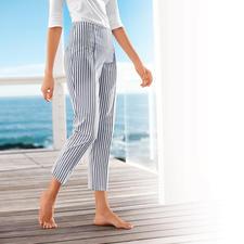 """Seersucker-Hose """"Blue Stripes"""" - Die perfekte Sommerhose: Luftig leichtes Seersucker-Gewebe – aber elegant genug fürs Büro."""
