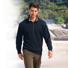 Wetter-Pullover, Kontrastkragen Streifen - Warm, Wasser abweisend, winddicht.