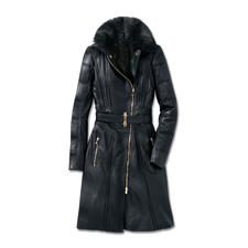 Versace Collection Lammleder-Bikermantel - Versaces Biker-Trend de luxe: Feminin sexy. Modisch rockig. Und winterwarm.