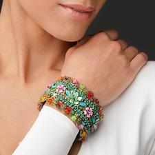 Yaron Morhaim Blüten-Armband - Jetzt ein Trend-Thema: Blüten-Schmuck im viktorianischen Stil. Handgefertigt von Yaron Morhaim, London.
