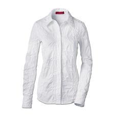 Stickerei-Batistbluse - Bitte niemals bügeln: Die klassische weiße Bluse aus edlem Batist, allover bestickt.