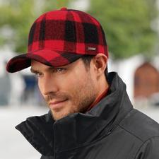 Stetson Woolrich-Cap - Nicht irgendein modisches Karo – sondern das berühmte Holzfäller-Karo von Woolrich. Made in USA.