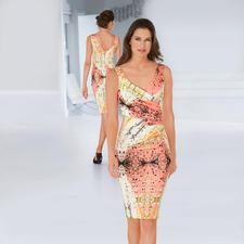 """cavalli CLASS Reisekleid """"Art-Print"""" - Das elegante Designerkleid für jeden Tag. Art-Print in sommerfrischem Apricot und Weiß. Von cavalli CLASS."""