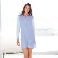 """Pluto Nightshirt """"Two in One"""" - Bequem wie ein Jersey-Nachthemd. Aber viel eleganter. Perfekt kombiniert: Hemdenpopeline mit Baumwoll-Jersey."""