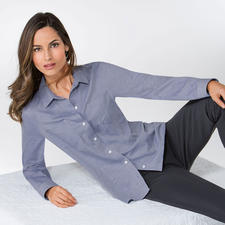 Baumwoll-Kaschmir-Bluse - Dieses seltene Allround-Talent harmoniert zu Jeans ebenso perfekt wie zur Tuchhose.