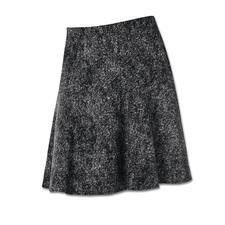 Michèle Wolljersey-Rock - Tweed-Optik auf neue, leichte Art – als softer Wolljersey. Perfekt für die aktuelle schwingende Rock-Form.