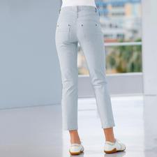 Magic-Streifenjeans - Die figurformende Magic-Jeans in neuer 7/8-Länge und sommerfrischem Streifen-Dessin.